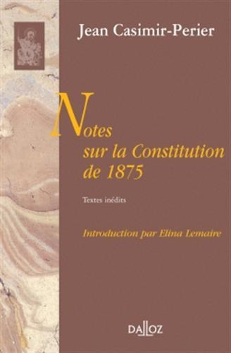 Notes sur la Constitution